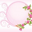 Pink rose with flower frame — Stock Vector