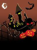 Vector wallpaper para halloween — Vector de stock