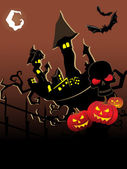 Vector wallpaper per halloween — Vettoriale Stock