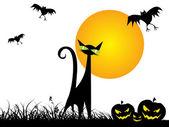 Fond d'écran pour la célébration d'halloween — Vecteur
