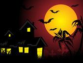 Achtergrond voor halloween — Stockvector