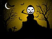 Behang voor halloween-feest — Stockvector