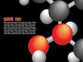 Skupina molekuly — Stock vektor