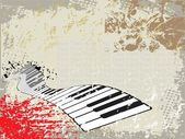 Grunge background of piano — Stock Vector