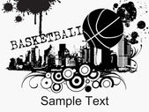 Grunge basketball background — Vecteur