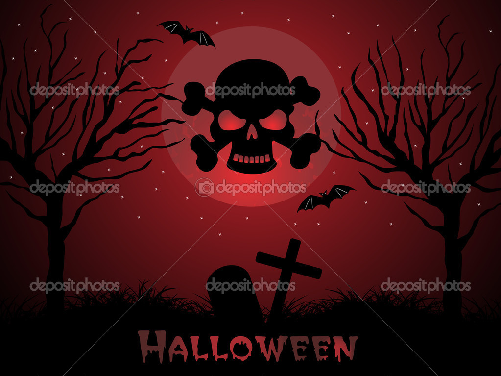 Abstract halloween background, vector wallpaper  Stock Vector #2785159