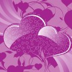 Artistic pattern valentine background — Stock Vector