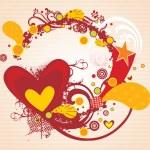 バレンタインデーのためのベクトル図 — ストックベクタ
