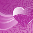 Stockvector : Handdrawn heart background