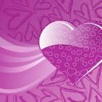 Handdrawn heart background — Stock Vector