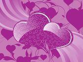 Umělecký pozadí valentine — Stock vektor