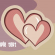 Background with set of heart — Stock Vector