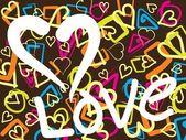 Illustration of love wallpaper — Stock Vector