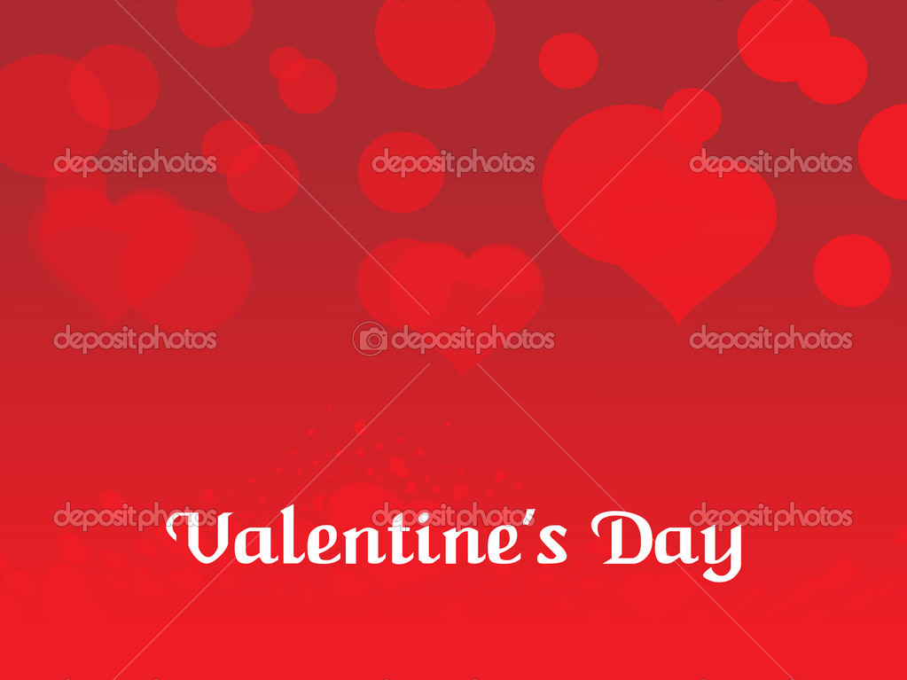 Abstract red valentine day background with romatic herts — Imagens vectoriais em stock #2808535
