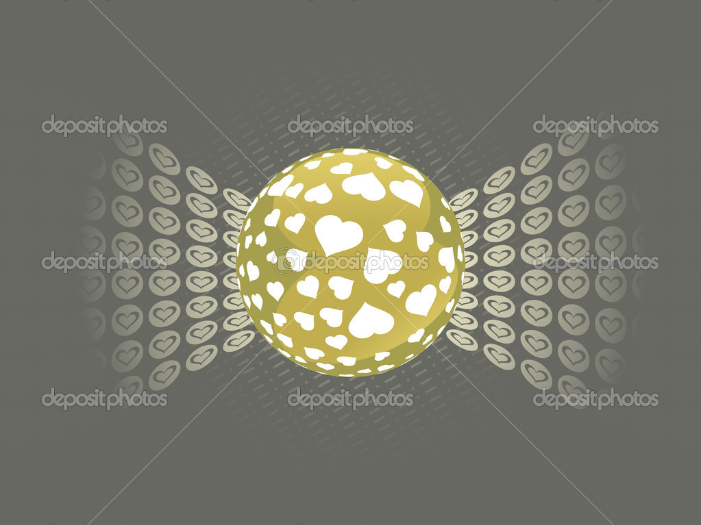 Abstract background with ball and macro — Vektorgrafik #2809268