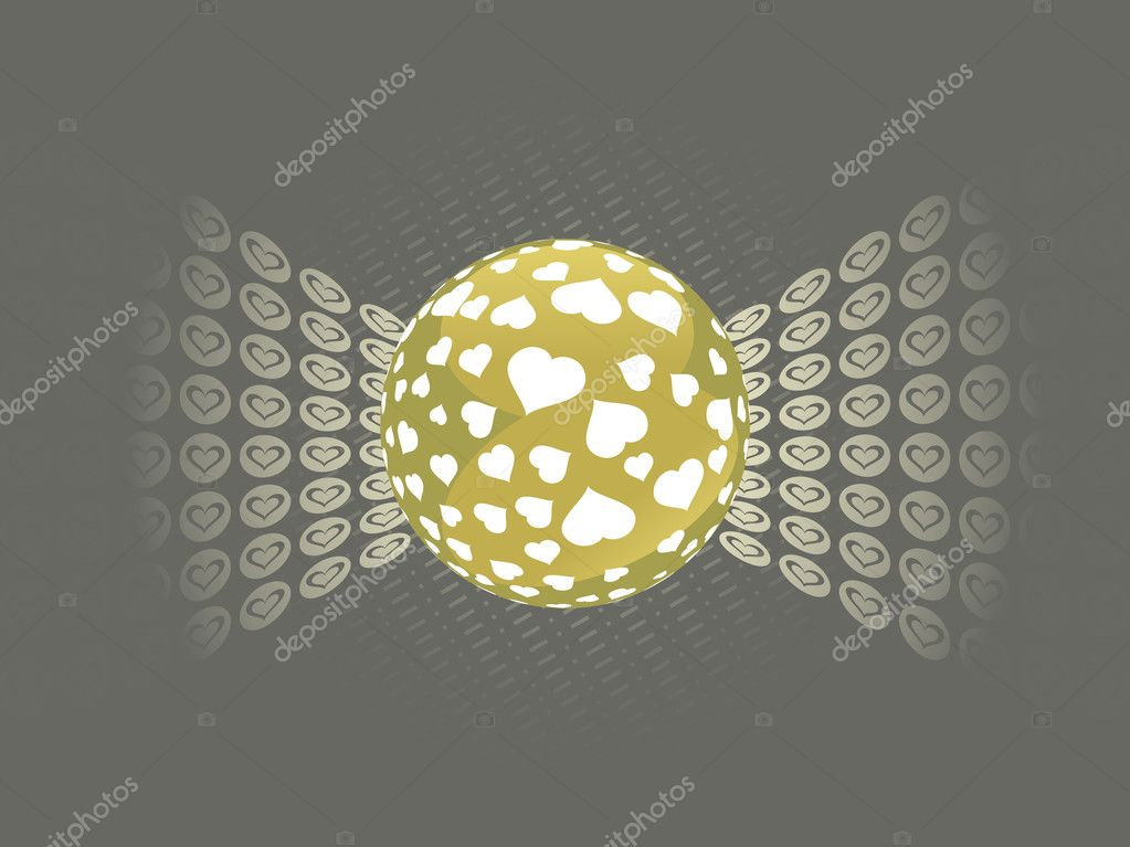 Abstract background with ball and macro — ベクター素材ストック #2809268