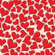 Royalty-Free Stock Vektorgrafik: Red heart pattern wallpaper
