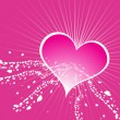 Valentines heart shape wallpaper — Image vectorielle