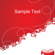 Valentine red vector heart, wallpaper - Stock Vector