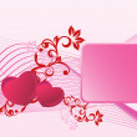 San Valentino splendente cuore, banner7 — Vettoriale Stock