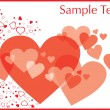 Stock Vector: Valentines day frame