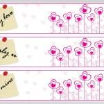 Vector valentine landscape banner — Stock Vector #2811821