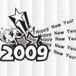 Stockvector : Wallpaper, year 2009 background