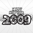 Wallpaper, year 2009 background - Imagens vectoriais em stock
