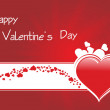 Valentines background with hearts — Imagen vectorial