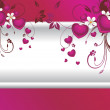 Background with floral, heart — Stock Vector