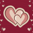 Maroon macro background with heart - Stock Vector