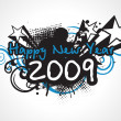Year 2009 background — Imagen vectorial