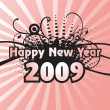 Year 2009 background — Stock Vector