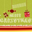 Background with hanging xmas object - Stock Vector