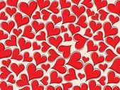 Red heart pattern wallpaper — Stock Vector