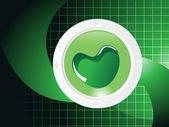 Valentines shining heart, banner9 — Stock Vector