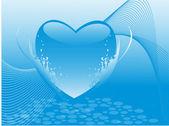 Walentynki serca kształt niebieski transparent — Wektor stockowy