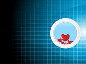 Valentines shining heart, banner2 — Stock Vector