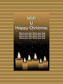 Wish u happy christmas background — Stock Vector