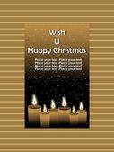 Wish u happy christmas background — Stock Vector