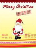 Vector merry christmas background — Stock Vector