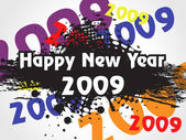 Wallpaper, year 2009 background — Stock Vector