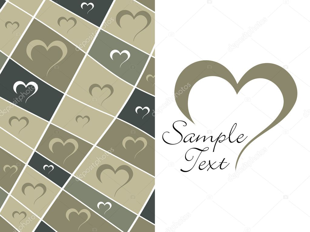 Abstract halftone pattern valentine day background and sample text — Stock vektor #2810845