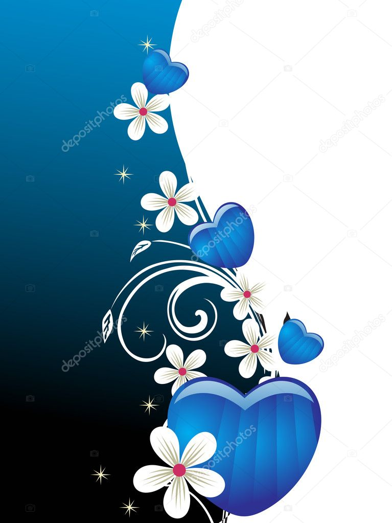 Abstract romantic blue halftone background  Stock Vector #2817822