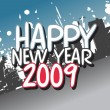 Vector de stock : Wallpaper, year 2009 series