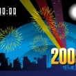 Wallpaper, year 2009 background — ストックベクター #2820127
