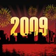 Vector de stock : Wallpaper, year 2009 background