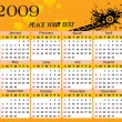Vector de stock : Wallpaper, year 2009 calendar