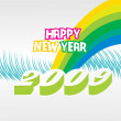 Wallpaper, year 2009 — Vector de stock #2820283