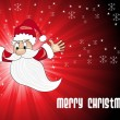 Rays background with santa claus - Image vectorielle